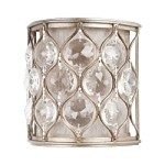"Lucia Collection 1-Light 8"" Burnished Silver Crystal Wall Sconce P1259BUS"