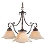 "Tuscan Villa Collection 3-Light 26"" Corinthian Bronze Chandelier F1837/3CB"