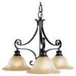 "Cervantes Collection 3-Light 25"" Liberty Bronze Chandelier F1928/3LBR"