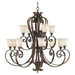 "Normandie Court Collection 12-Light 48"" Palladio Chandelier F2020/8+4PAL"
