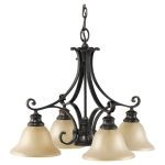 "Cervantes Collection 5-Light 24"" Liberty Bronze Chandelier F2186/4+1LBR"