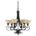 "Cervantes Collection 6-Light 28"" Liberty Bronze Chandelier F2187/6LBR"