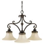 "Drawing Room Collection 3-Light 25"" Walnut Chandelier F2219/3WAL"