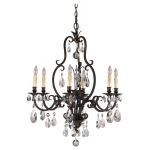"Salon Maison Collection 6-Light 29"" Aged Tortoise Shell Chandelier F2228/6ATS"