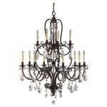 "Salon Maison Collection 12-Light 37"" Aged Tortoise Shell Chandelier F2229/8+4ATS"
