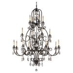 "Salon Maison Collection 16-Light 53"" Aged Tortoise Shell Chandelier F2230/8+4+4ATS"