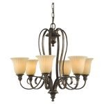 "Somerset Collection 6-Light 25"" British Bronze Chandelier F2280/6BRB"
