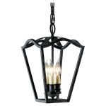"King's Table Collection 3-Light 15"" Antique Forged Iron Pendant F2324/3AF"