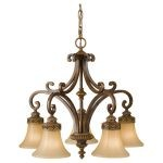 "Drawing Room Collection 5-Light 25"" Walnut Chandelier F2397/5WAL"