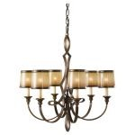"Justine Collection 6-Light 27"" Astral Bronze Chandelier F2529/6ASTB"