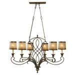 "Justine Collection 6-Light 36"" Astral Bronze Chandelier F2530/6ASTB"