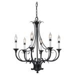 "Peyton Collection 6-Light 23"" Black Chandelier F2533/6BK"