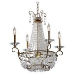 "Dutchess Collection 4-Light 22"" Burnished Silver Chandelier F2710/4BUS"
