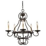 "Barnaby Collection 5-Light 23"" Liberty Bronze Chandelier F2715/5LBR"