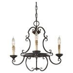 "Barnaby Collection 3-Light 20"" Liberty Bronze Chandelier F2716/3LBR"