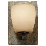 "Quarry Collection 1-Light 6"" Oil Rubbed Bronze / Rusted Slate Bathroom Vanity Light VS19201-ORB/RSL"