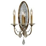 "Valentina Collection 3-Light 10"" Oxidized Bronze Wall Sconce with Shade WB1543OBZ"