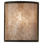 "Taylor Collection 1-Light 8"" Light Antique Bronze Wall Sconce with Beige Linen Shade WB1566LAB"