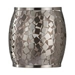 "Zara Collection 1-Light 8"" Brushed Steel Wall Sconce with Silver Organza Shade WB1589BS"
