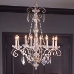 "Gracie Collection 8-Light 28"" Sunrise Mist Crystal Chandelier 42116SRM"