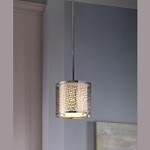 "Joplin Collection 1-Light 8"" Chrome Pendant P1218CH"
