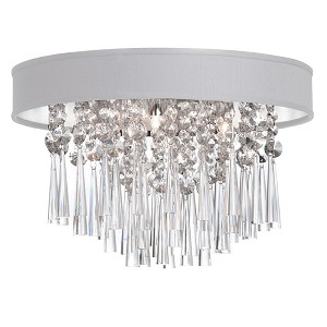 "Shaded Light Design 4-Light 16"" Chrome Crystal Ceiling Mount with Micro Shade SKU# 13054"