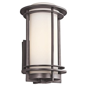 "Pacific Edge Collection 1-Light 13"" Architectural Bronze Outdoor Wall Sconce 49345AZ"