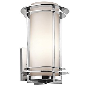 "Pacific Edge Collection 1-Light 13"" Marine Grade Stainless Steel Outdoor Wall Sconce 49345PSS316"