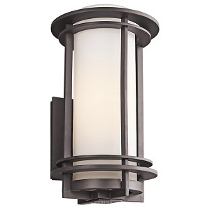 "Pacific Edge Collection 1-Light 16"" Architectural Bronze Outdoor Wall Sconce 49346AZ"