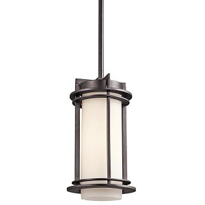 "Pacific Edge Collection 1-Light 11"" Architectural Bronze Outdoor Hanging Pendant 49347AZ"