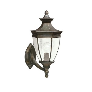 "Warrington Collection 1-Light 19"" Tannery Bronze Outdoor Wall Lantern 9370TZ"