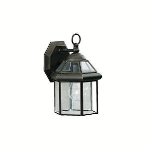 "Embassy Row Collection 1-Light 10"" Olde Bronze Outdoor Wall Lantern with Clear Glass 9783OZ"