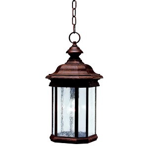 "Kirkwood Collection 1-Light 18"" Tannery Bronze Outdoor Hanging Lantern 9810TZ"