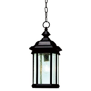 "Kirkwood Collection 1-Light 18"" Black Outdoor Hanging Lantern 9810BK"