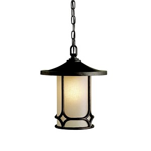 "Chicago Collection 1-Light 12"" Aged Bronze Outdoor Hanging Pendant 9827AGZ"