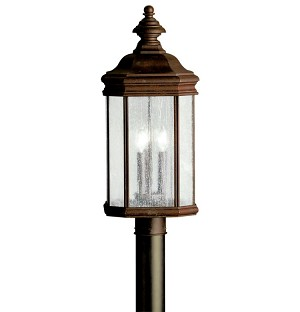 "Kirkwood Collection 3-Light 23"" Tannery Bronze Outdoor Post Lantern 9918TZ"