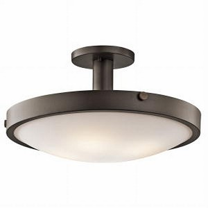"Lytham Collection 10"" 4-Light Olde Bronze Semi Flush 42246OZ"