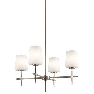 "Arvella Collection 25"" 4-Light Brushed Nickel Chandelier 43085NI"