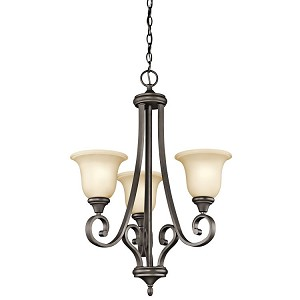 "Monroe Collection 23"" 3-Light Olde Bronze Chandelier 43155OZ"