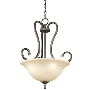 "Feville Collection 18"" 3-Light Olde Bronze Pendant 43179OZ"