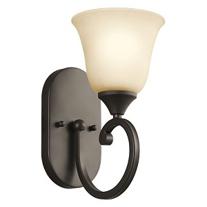 "Feville Collection 6"" 1-Light Olde Bronze Wall Sconce 45473OZ"