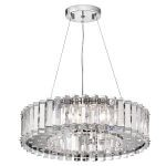 "Crystal Skye Collection 21"" 8-Light Chrome Chandelier 42195CH"
