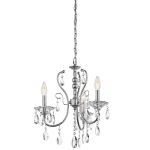 "Jules Collection 17"" 4-Light Chrome Chandelier 43120CH"