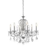 "Jules Collection 25"" 6-Light Chrome Chandelier 43121CH"