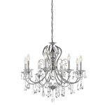 "Jules Collection 28"" 8-Light Chrome Chandelier 43122CH"