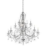 "Jules Collection 44"" 12-Light Chrome Chandelier 43124CH"