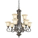 "Monroe Collection 33"" 9-Light Olde Bronze Chandelier 43159OZ"