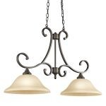 "Monroe Collection 14"" 2-Light Olde Bronze Pendant 43160OZ"