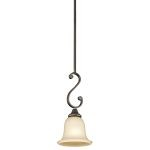 "Monroe Collection 7"" 1-Light Olde Bronze Pendant 43162OZ"