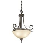 "Monroe Collection 17"" 2-Light Olde Bronze Pendant 43163OZ"